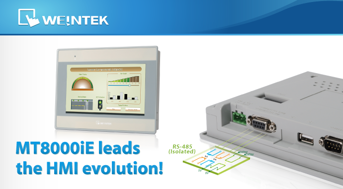 MT8000iE leads the HMI evolution!